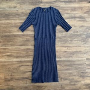 Ann Taylor blue knit dress XS